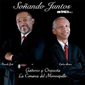 Carlos Arturo Meza, Rusvelt Jose Meza, Gaiteros y Orquesta La Comarca del Morrosquillo Foto artis