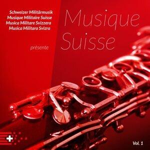 Rekrutenspiele Schweizer Militärmusik & Oblt Roger Hasler Foto artis