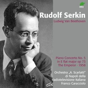 """Orchestra """"A. Scarlatti"""" di Napoli della Radiotelevisione Italiana, Rudolf Serkin, Franco Caracciolo Foto artis"""