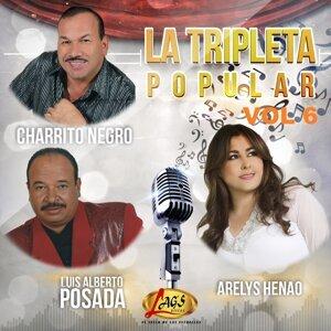 El Charrito Negro, Luis Alberto Posada, Arelys Henao Foto artis
