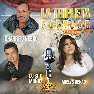 El Charrito Negro, Luisito Muñoz, Arelys Henao Foto artis