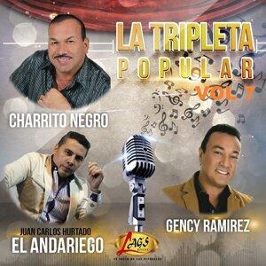 El Charrito Negro, Juan Carlos Hurtado el Andariego, Gency Ramirez Foto artis
