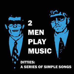 Two Men Play Music Foto artis