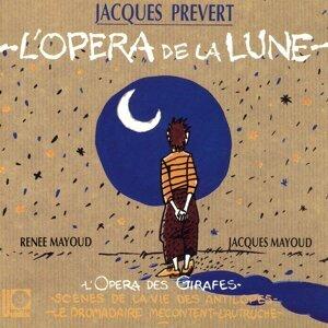 Renée Mayoud, Jacques Mayoud, Jacques Prévert Foto artis