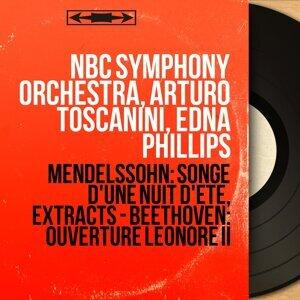 NBC Symphony Orchestra, Arturo Toscanini, Edna Phillips Foto artis