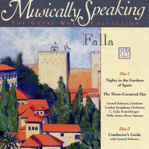 G. Schwarz, C. Rosenberger, Della Falla Jones, London Symphony O. Foto artis