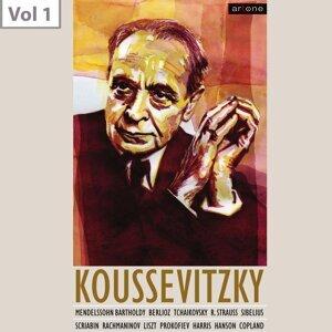 Boston Symphony Orchestra, Sergey Koussevitzky, William Primrose Foto artis