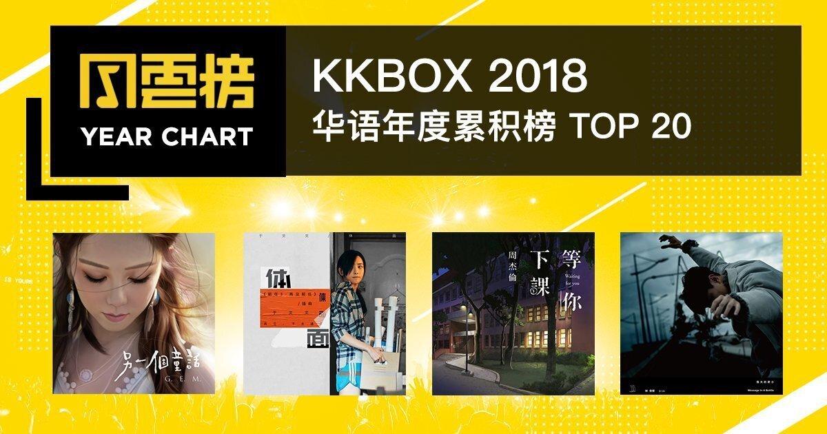 2018 KKBOX 华语年度累积榜:林俊杰是新加坡小王子无误!