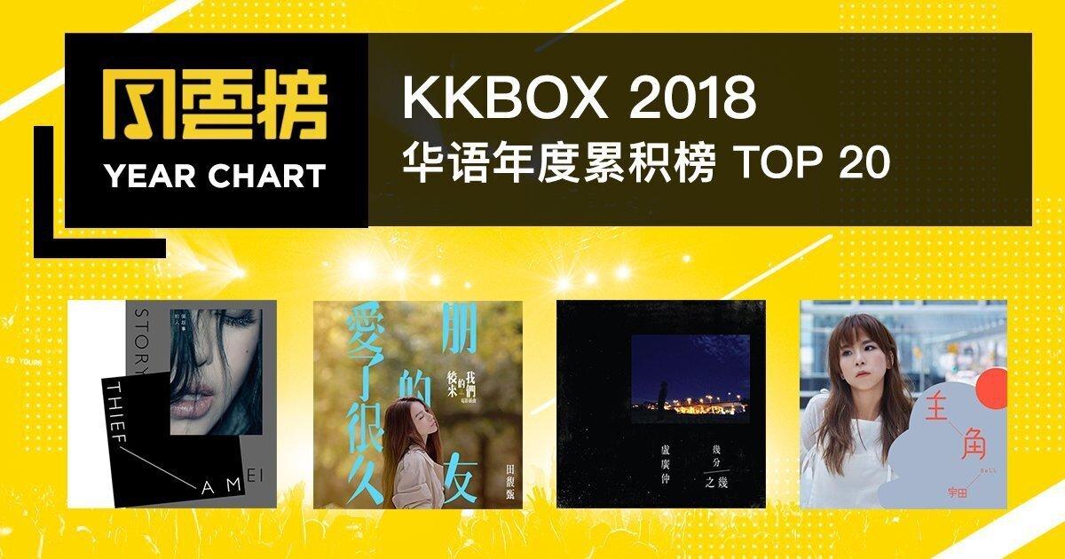 2018 KKBOX 华语年度累积榜:后起之秀来势汹汹!