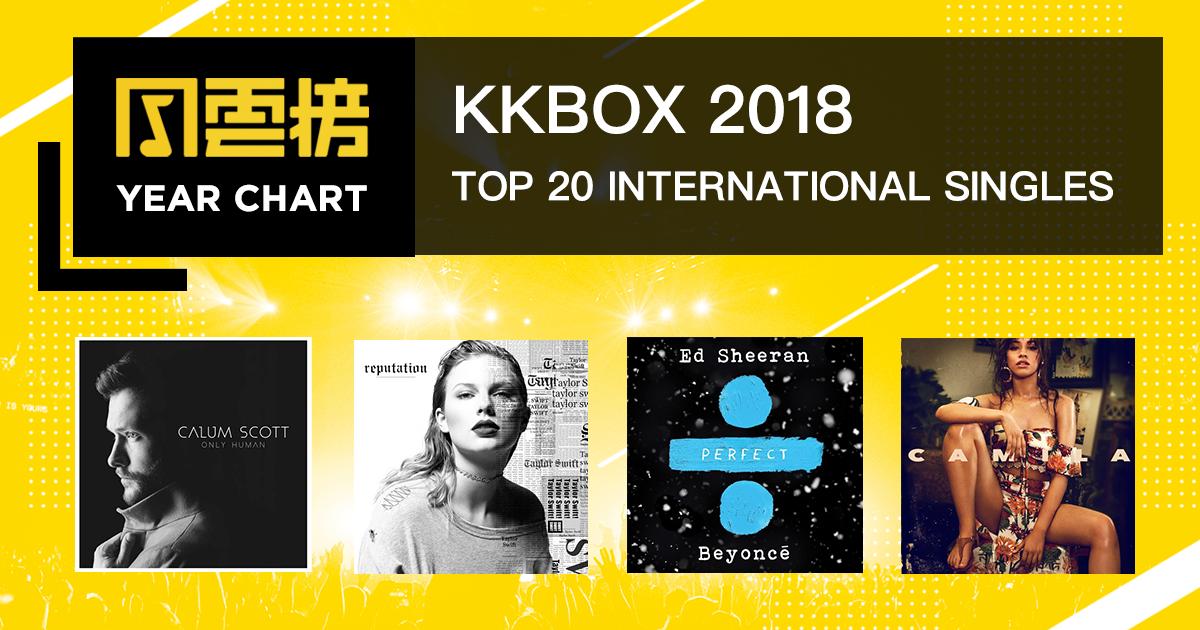 2018 KKBOX 西洋年度累积榜:大家似乎很爱女歌手唷~
