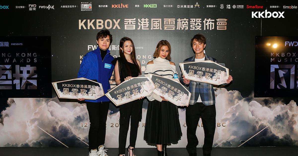 首屆「KKBOX香港風雲榜」3月12日強勢降臨會展HALL 5BC