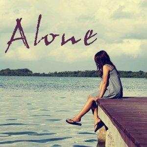 一個人。ALL ALONE.