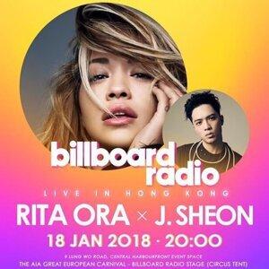 Billboard Radio Live In Hong Kong 2018 Rita Ora X J.Sheon 預習歌單
