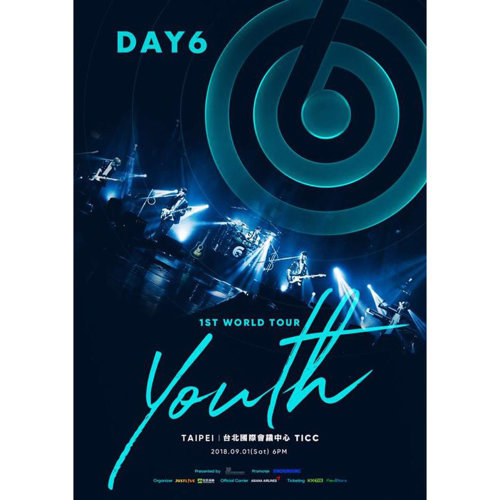 DAY6 1st World Tour 'Youth' in Taipei