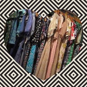 脆弱の服飾店:和衣服一起漂著