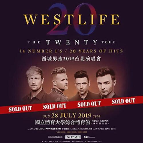 Westlife The Twenty Tour Live In Taipei 07/28/19