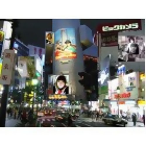 涉谷的夜街景!!