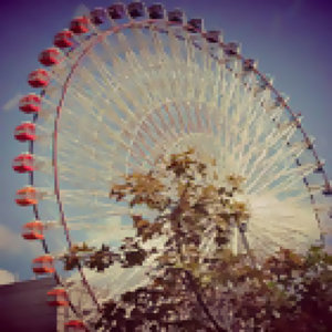 singing on the ferris wheel