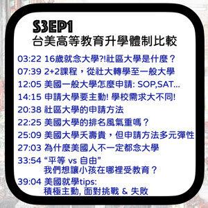 S3EP1 美國大學怎麼申請?你聽過社區大學嗎?-台美高等教育升學體制比較 ft. LWTech Iyun Su