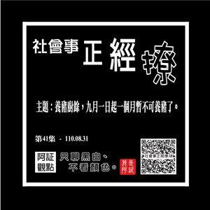 #41 / S2EP016 /主題:養豬廚餘,九月一日起一個月暫不可養豬了。 (1100831-社會事正經撩-第41集 )