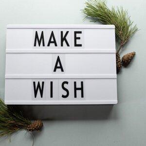 只有一個願望,並且能成真,你會許下....